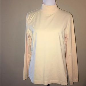 Talbots Yellow Turtleneck Long Sleeve Top